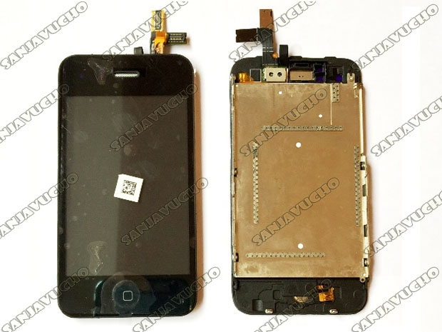 LCD + TOUCH + MARCO + DIGITALIZADOR + BOTON HOME IPHONE 3GS 3G BLACK