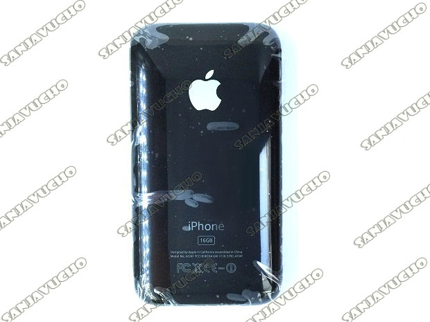176) TAPA TRASERA NEGRA IPHONE 3G/3GS
