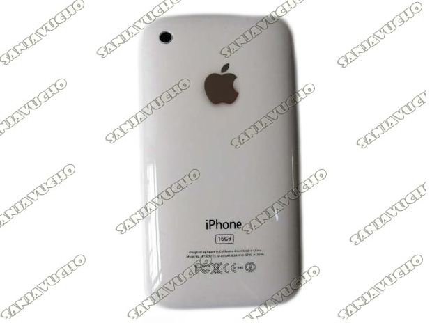 176) TAPA TRASERA BLANCA IPHONE 3G/3GS