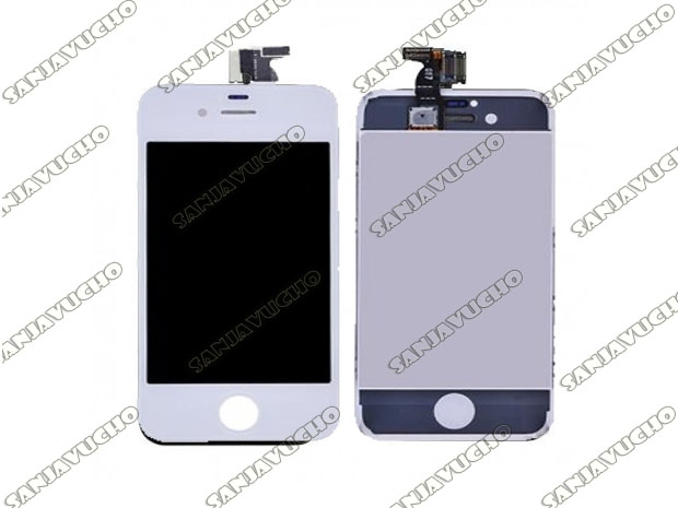178) IPHONE 4G LCD + TOUCH MODULO COMPLETO BLANCO