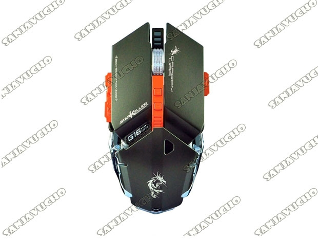 MOUSE GAMER STAR KILLER BLUE-SENSOR ELE-G16