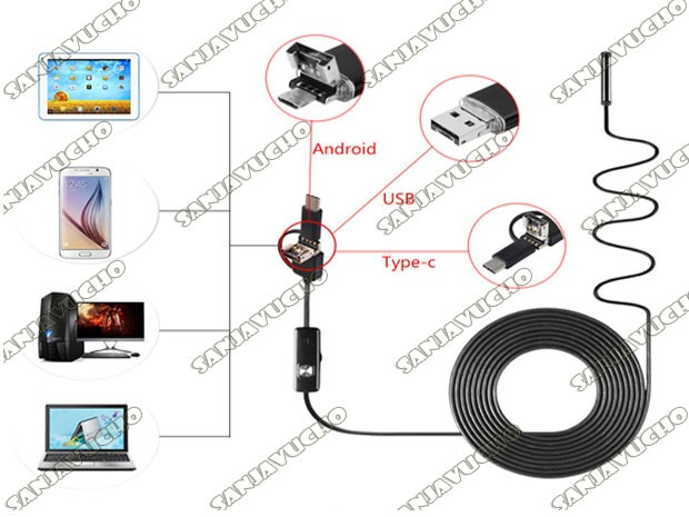 * CAMARA ENDOSCOPICA CELULAR / PC 10 MTS 5.5MM