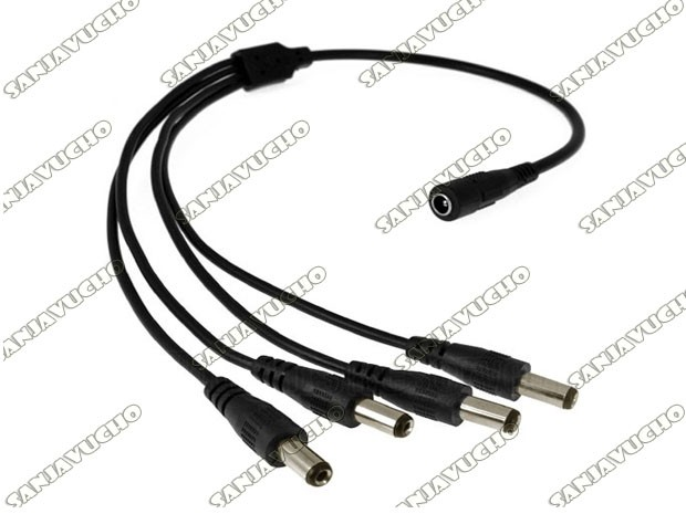 CABLE PULPO CORRIENTE  1 HEMBRA A 4 MACHOS
