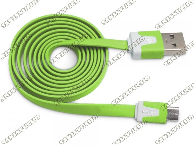 CABLE MICRO USB FLAT COLORES 1.2 MTS