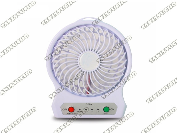 MINI VENTILADOR LED USB RECARGABLE LINTERNA