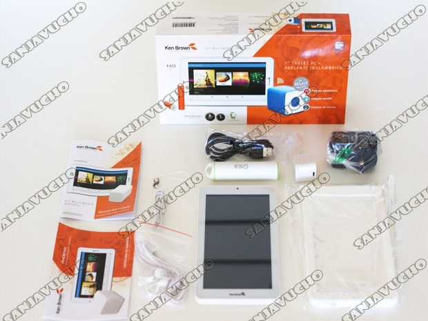 TABLET KEN BROWN PHOENIX 7 + PARLANTE + FUNDA + BANK
