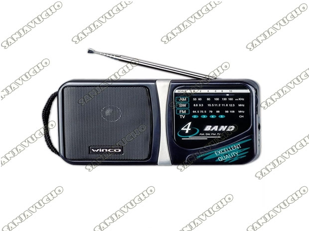 RADIO PORTATIL WINCO W204 A PILAS AM FM 4 BANDAS