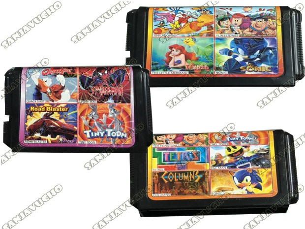 CONSOLA SEGA CARTUCHO MULTIPLE 4 EN 1
