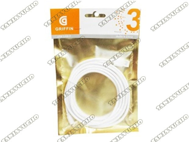 ** CABLE CARGADOR IPHONE 3 MTS GRIFFIN ALTA CALIDAD
