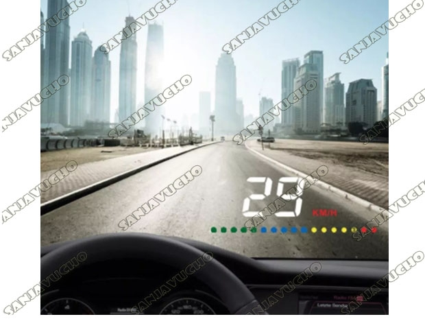 CAR HEAD UP DISPLAY GPS SISTEMA DE ADVERTENCIA DE VELOCIDAD